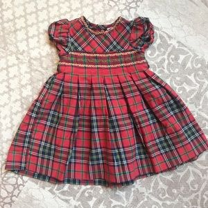 Edgehill Collection baby girls smocked dress, 9 mo